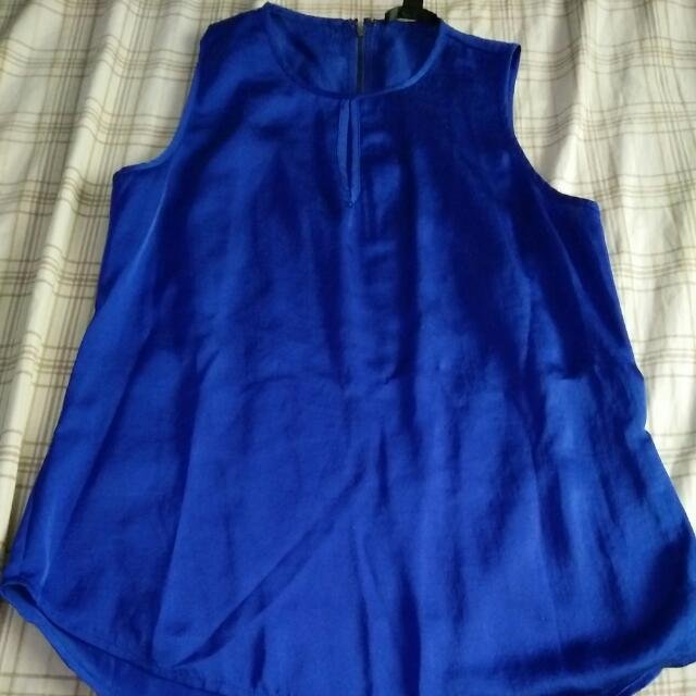 Kenneth Cole blue sleeveless top size S
