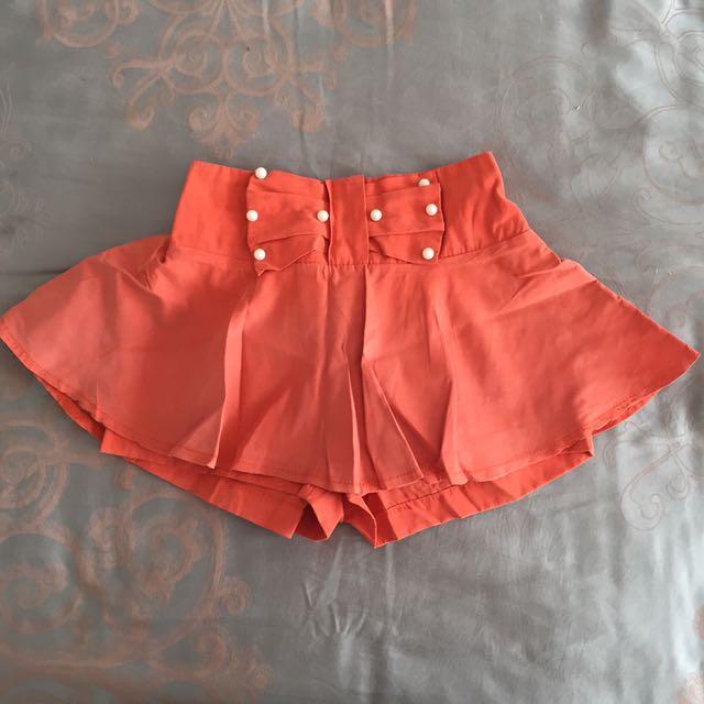 Kids Orange Skort Celana Rok Anak Size 18-24 Months