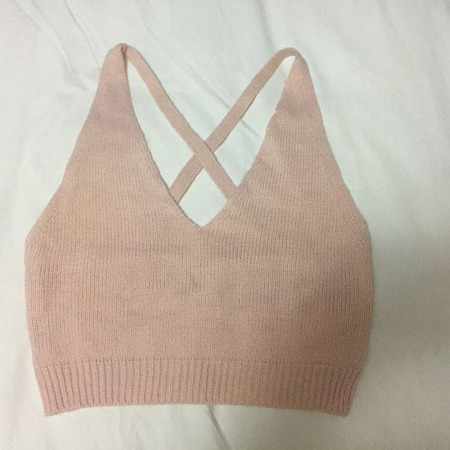 Knit Crossback Crop Top