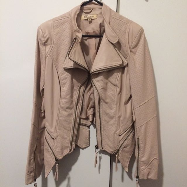 Leather Pastel Pink Jacket