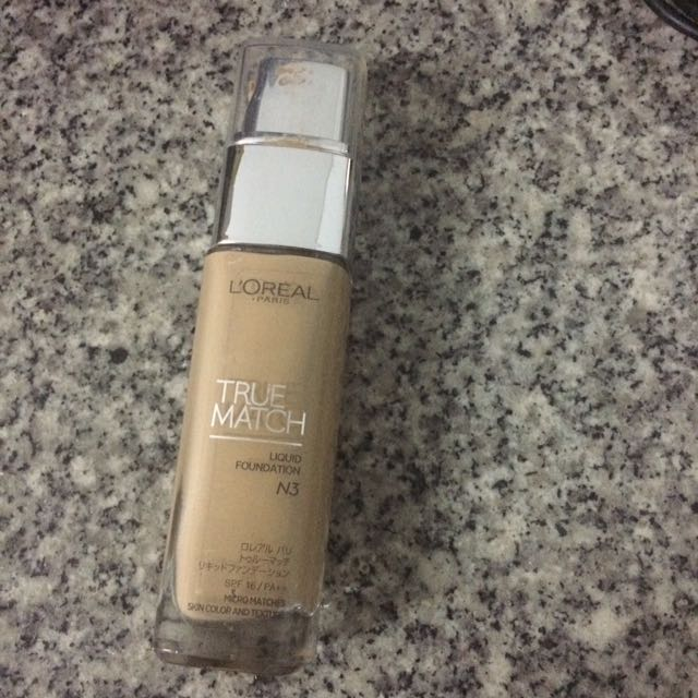 Loreal True Match Liquid Foundation N3
