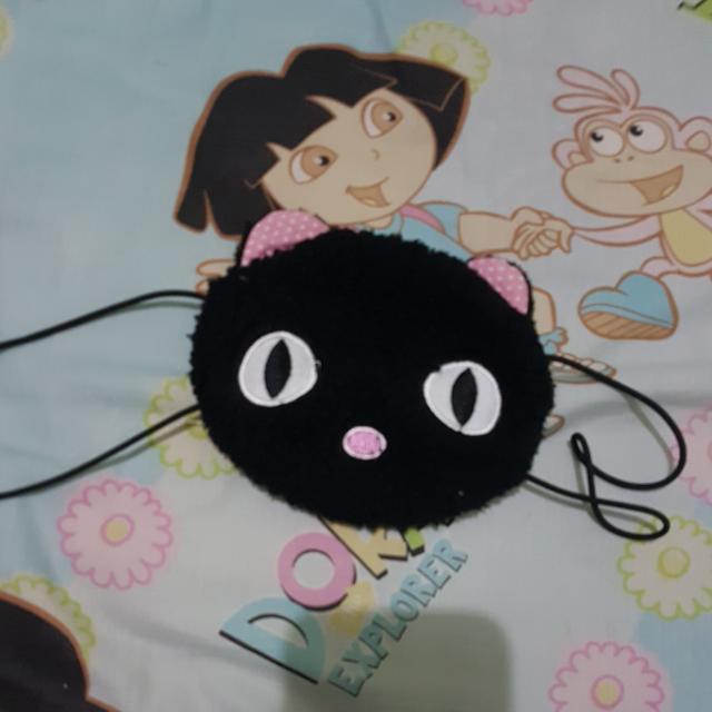 Masker Kucing Hitam Lucu