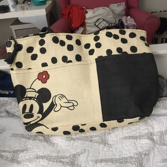 Minnie Mouse Straw Beach Bag