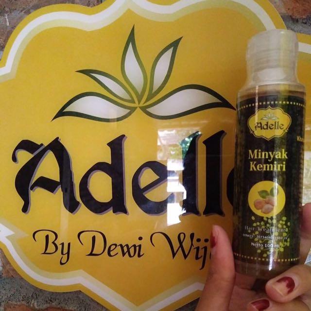 minyak kemiri penumbuh rambut asli adelle, kesehatan & kecantikan Minyak Kemiri Adelle