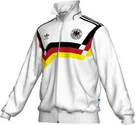 New GERMANY 1990 Adidas Originals TT Track Top Jacket Shirt