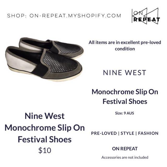 Nine West Monochrome Mesh Festival Shoes