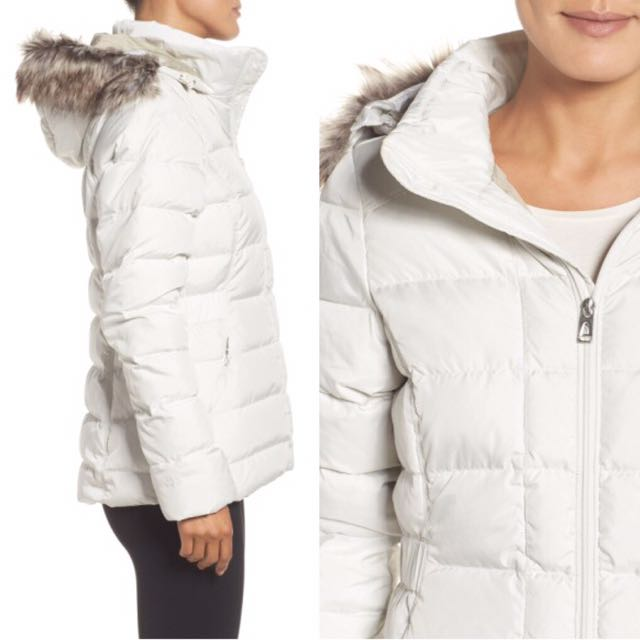North Face Women s Gotham Jacket Vintage White US XS Asia S Outdoor Urban  Explore 550 Fill Down A8XK11P-XS Puffer Faux Fur Trim Hood Off White Cream e1b3cc7e2