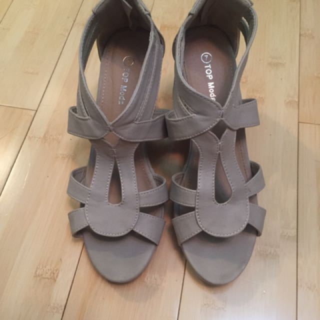 Nude Wedges Size 7