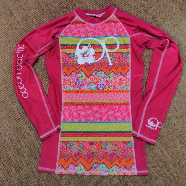 OP Pink Printed Rashguard