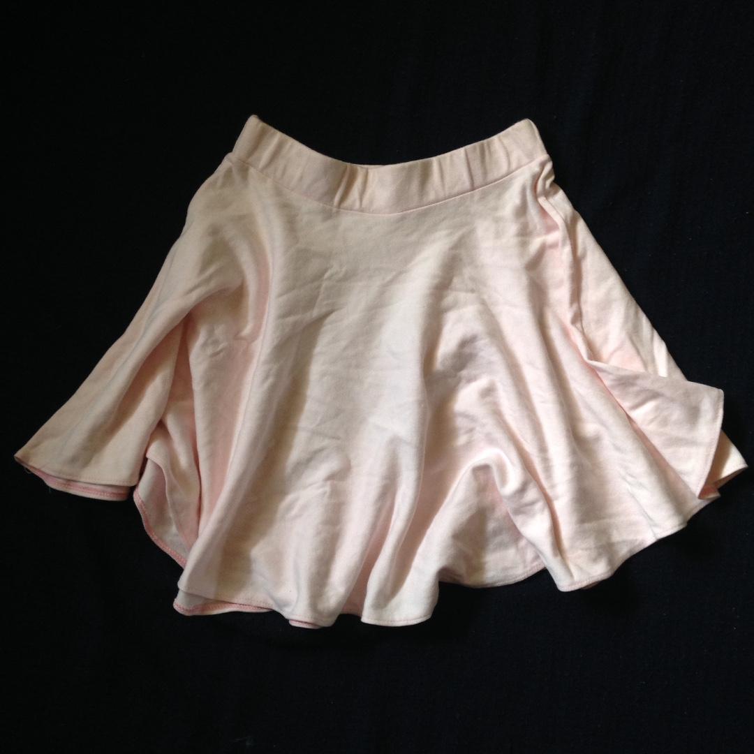 pastel pink skater skirt