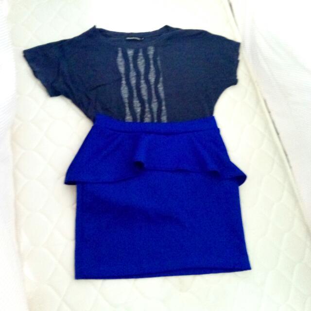 Peplum Skirt And Blouse