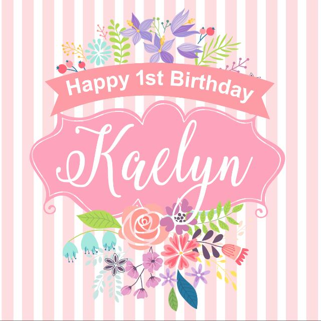 Personalized 1st Birthday, Baby Shower, Baby Girl Birthday Backdrop, Banner For Party Event