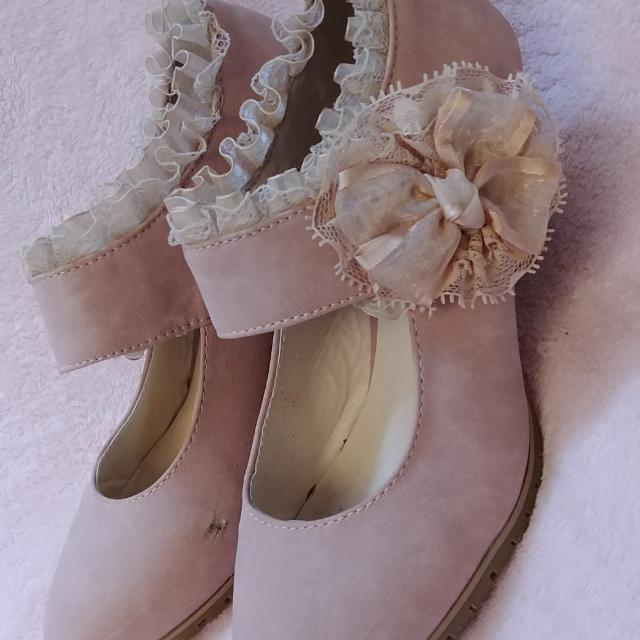 Pink Rosette Shoes