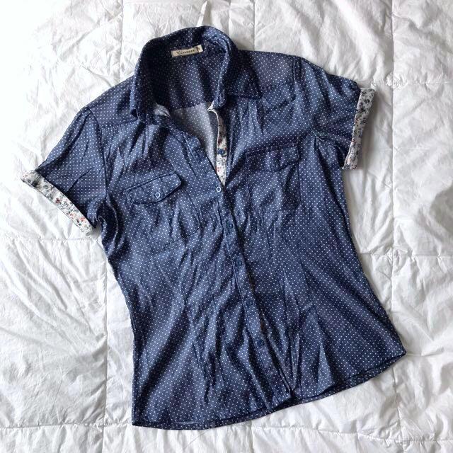 Polkadot Shirt (free Ongkir Jabodetabek)