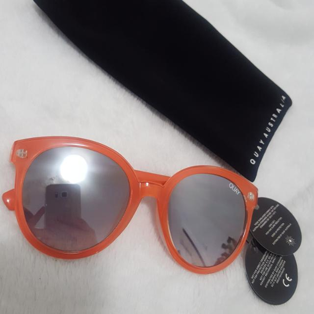QUAY Orange Reflective Sunnies