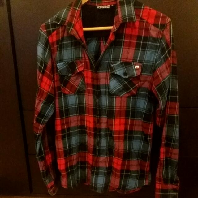 Quicksilver Warm Plaid Shirt