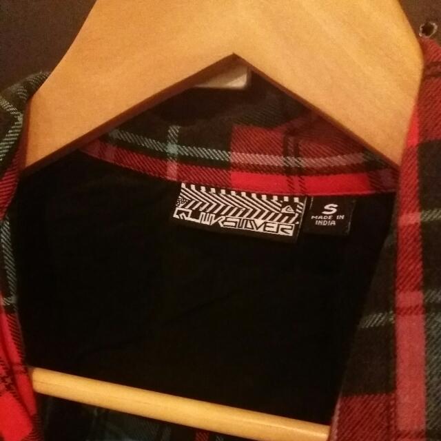 Quicksilver Warm Plaid Shirt