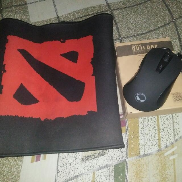 RAKK QUILDAP GAMING MOUSE AND MOUSE PAD (DOTA 2)