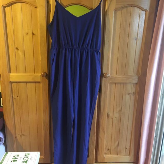Royal Blue Jumpsuit Size 14