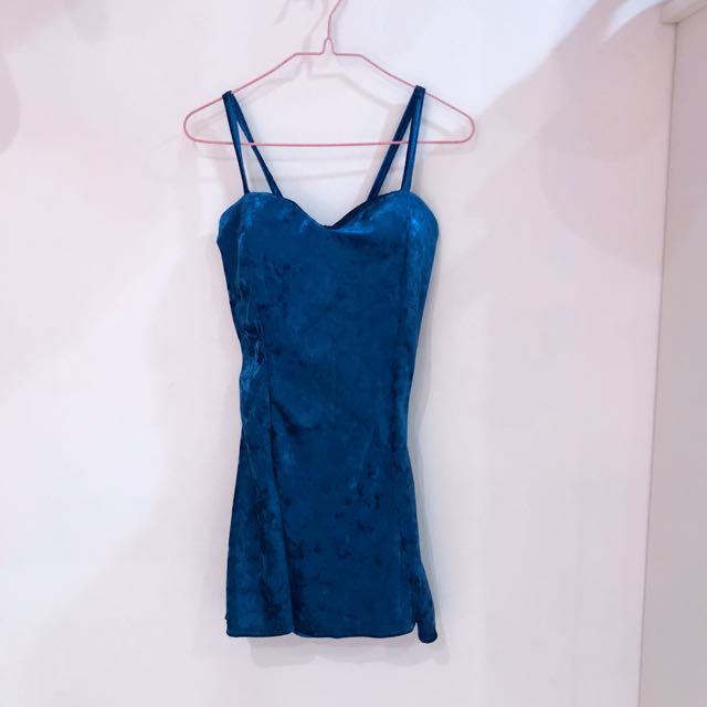 Satin Blue Dress