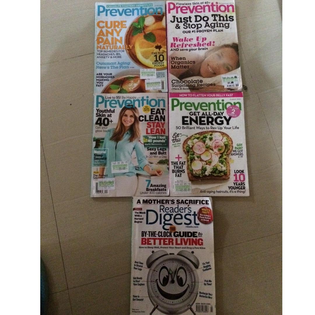 set of magazines