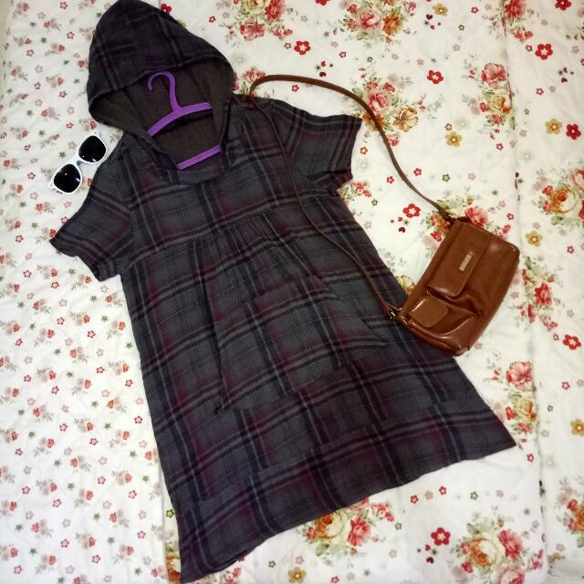 Simple Dress With Hoodie Fit To Size XL