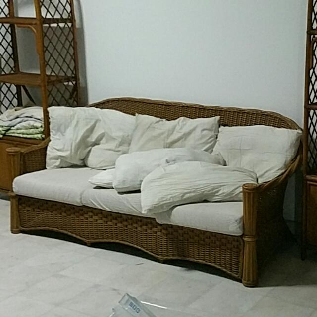 Sofa Rotan Home Furniture Furniture On Carousell
