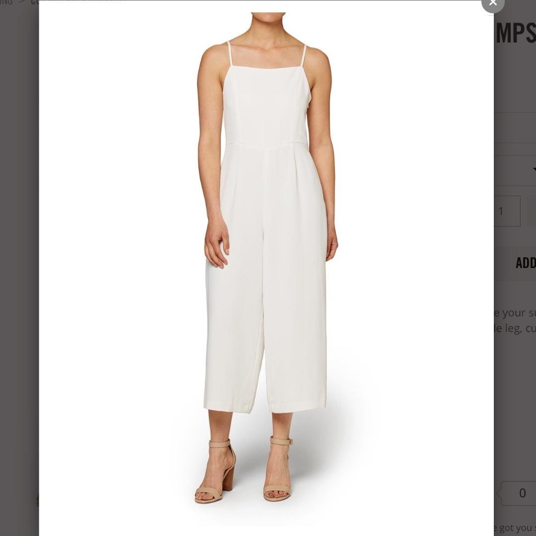 Sportsgirl White Jumpsuit