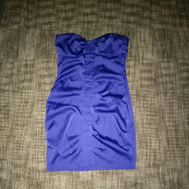 Supre Strapless Purple Dress