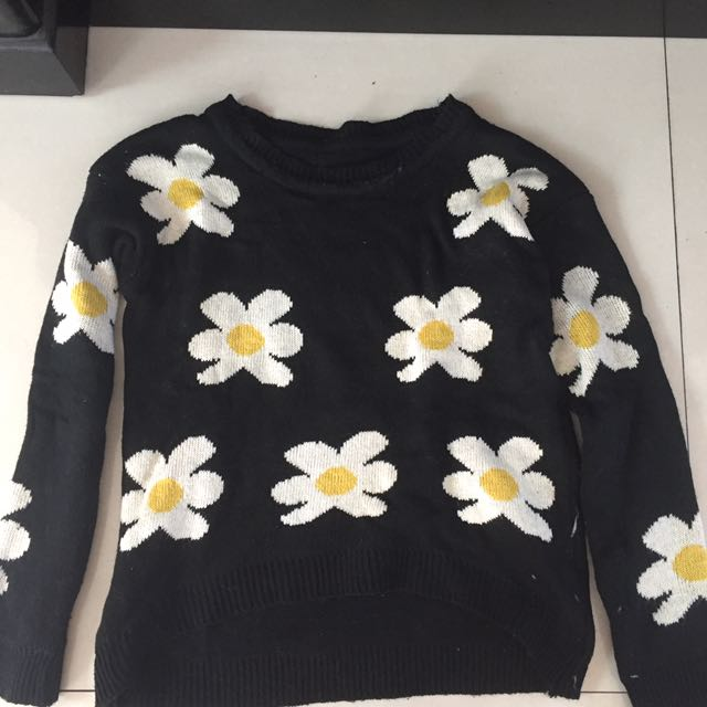 Sweater Froral Black