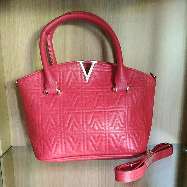 Tas Wanita Hand Bag Victoria Barbel Warna Merah