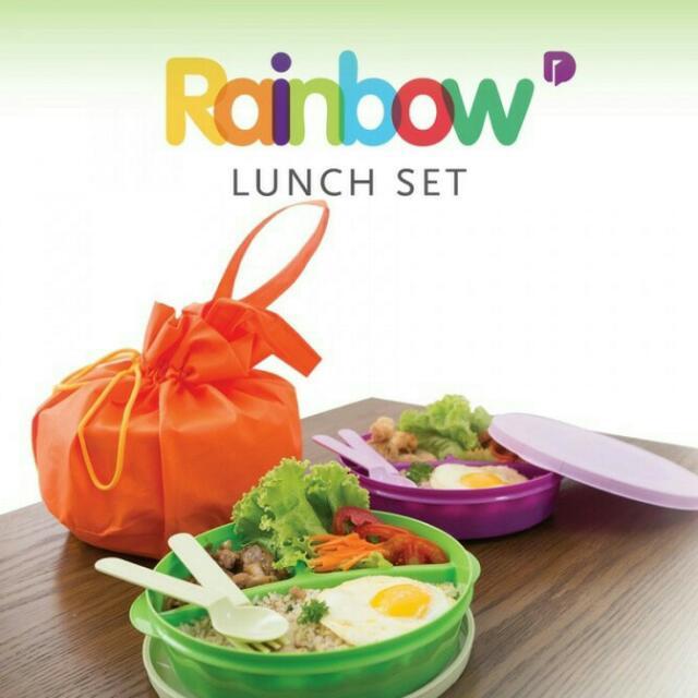 Tempat Makan Sekat Rainbow Lunch Set