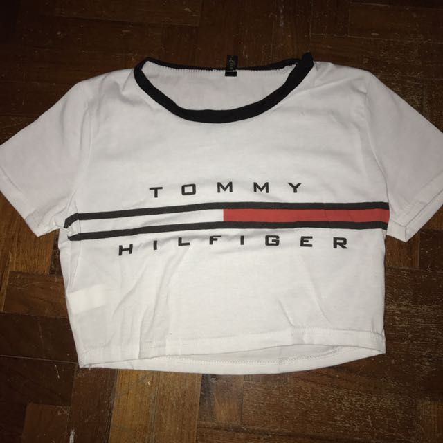 cd36dca2368 tommy hilfiger crop top, Women's Fashion, Clothes, Tops on Carousell