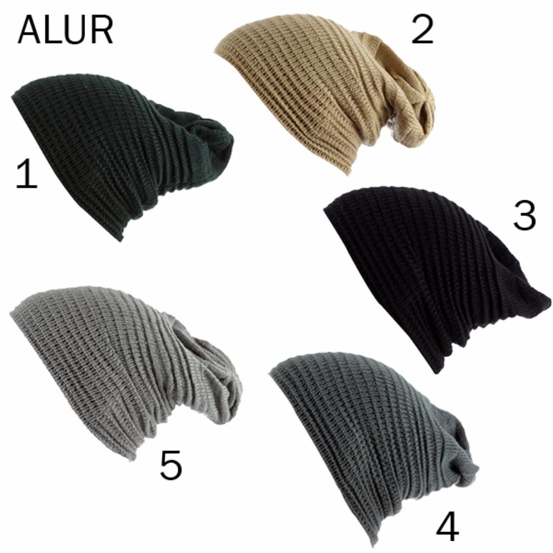 Topi Kupluk Rajut Alur / Beanie Hat