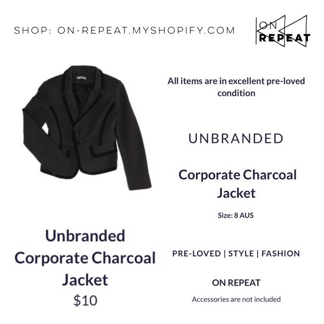 Unbranded Charcoal Corporate Jacket