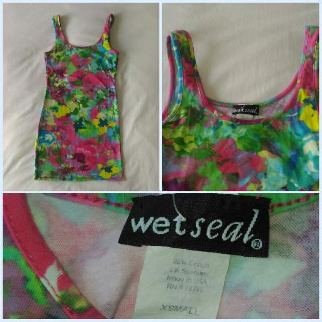 Wet Seal Watercolor Bodycon Dress