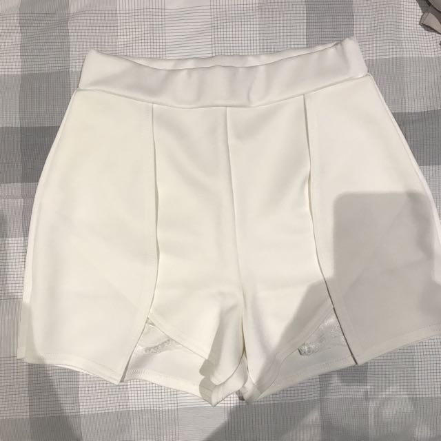 White Laced Shorts