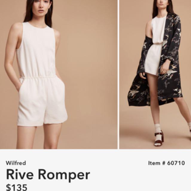 Wilfred Rive Romper- Aritzia
