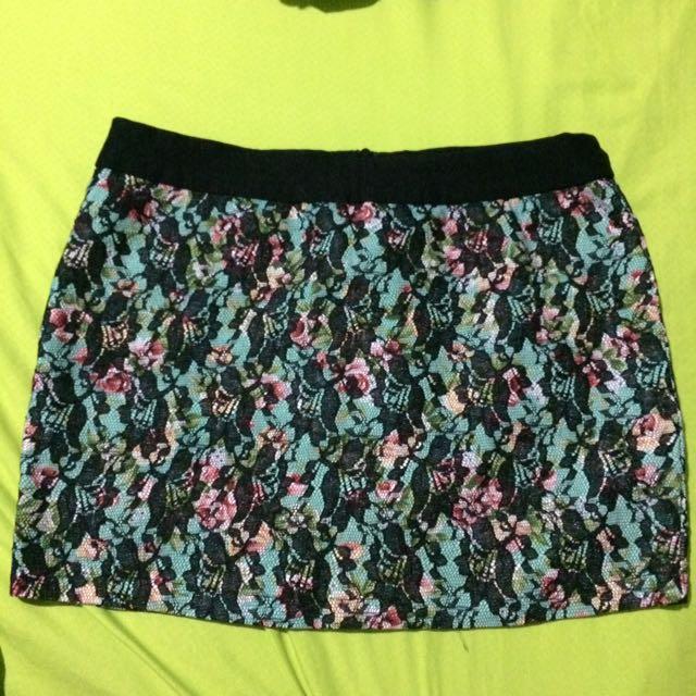 Women's Floral Mini Skirt