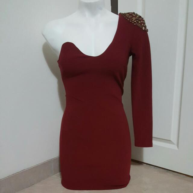 womens one shoulder bodycon dress size 10