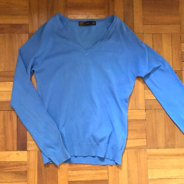 ZARA Blue Sweater