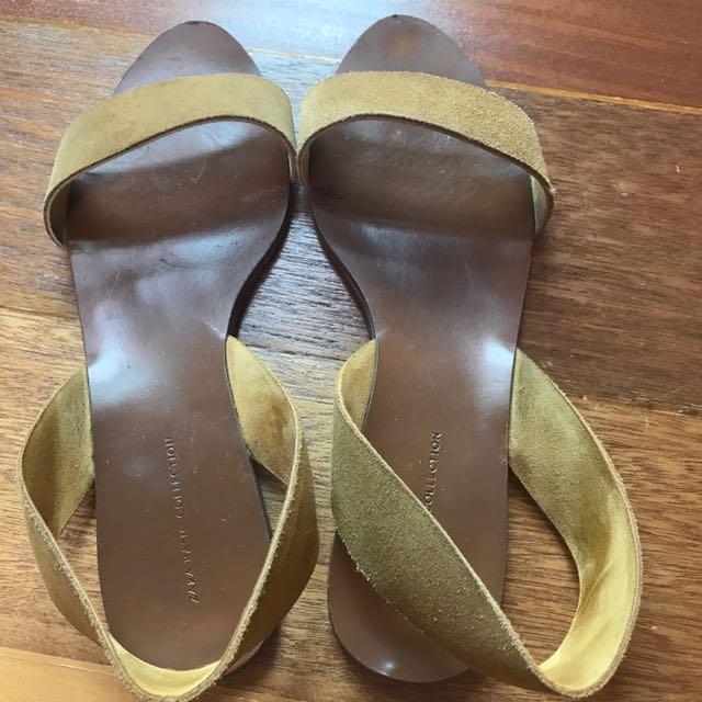 Zara Camel Sandals