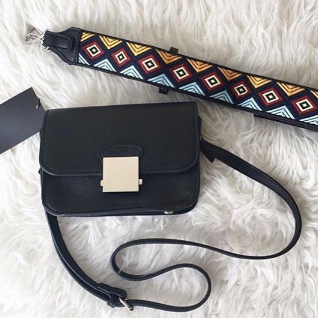Zara Crossbody Bag With Floral Strap