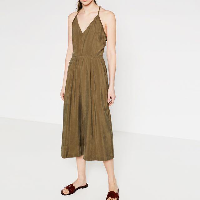 Zara Olive Green Jumpsuit