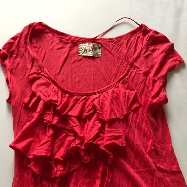 Zara Trafaluc Ruffle Shirt