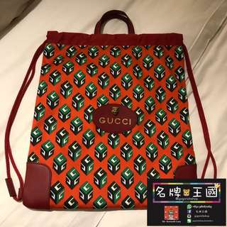 [全新] GUCCI GG Wallpaper Drawstring Backpack