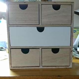 日式桌面木櫃筒仔