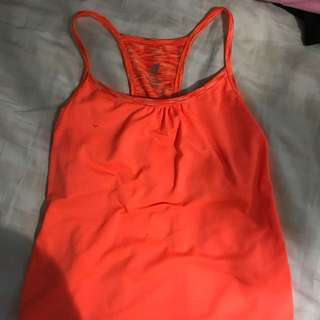 Bright Orange Athletic Top