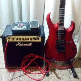 Electric Rock Guitar Package