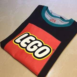 Uniqlo lego 樂高 短T 黑